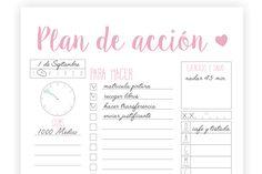 Imprimibles – Agenda – Plan de acción   Dulces Ilusiones