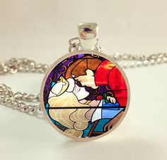 Hey, I found this really awesome Etsy listing at http://www.etsy.com/listing/161067121/sleeping-beauty-kiss-necklace-stained