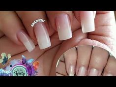 Cómo hacer uñas acrigel ¡FACIL! - YouTube Acrylic Nails At Home, Cute Acrylic Nails, Manicure At Home, Gel Manicure, French Gel, Rose Gold Chrome, Mirror Powder, Semi Permanente, Natural Nails