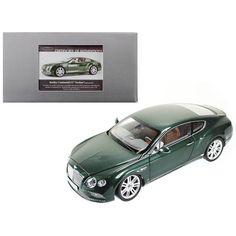 2016 Bentley Continental Gt Lhd Verdant Green 1-18 Diecast Model Car By Paragon 98222