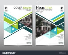 Green Triangle Annual Report Brochure Flyer Design Template Vector, Leaflet Cover Presentation Abstract Flat Background, Layout In A4 Size - 399911989 : Shutterstock