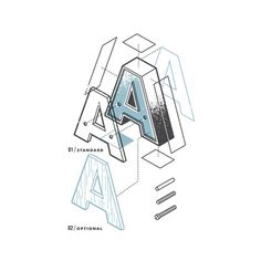 escapekit:     The Exploded Alphabet   Matt Stevensexplodes the alphabet in his latest set of typography prints.