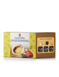 """Dettagli del prodotto """"OFFERTA SPECIALE SOLO PER COLORO CHE EFFETTUANO LA REGISTRAZIONE CLIENTE ABITUALE""""  DXN Cream Coffee DXN Cream Coffee è un prodotto di caffè istantaneo della migliore qualità e di estratto di Ganoderma. Non contiene zucchero aggiunto ma latte in polvere che gli conferisce un aroma delicato e setoso. Consigliato per coloro che vogliono ridurre l'assunzione di zucchero.  Contenuto della scatola 20 bustine x 14 g"""