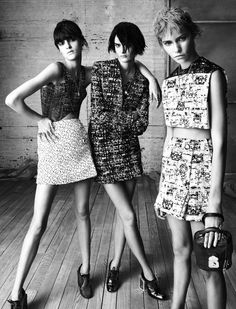 ladies with 'tude in the new Balenciaga campaign