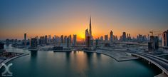 Panoramic view of Dubai from Business Bay