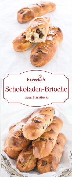 Food - Rezept für lecker Schokoladen Brioche Brötchten. Statt Brot zum Frühstück. Auf meinem Foodblog herzelieb