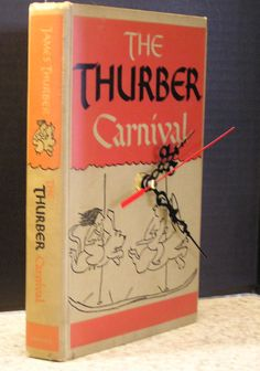 The Thurber Carnival Book Clock by MyBooklandia on Etsy. #thurber #bookclock #book #upcycle