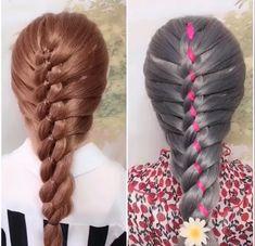 Hairstyles For Kids Videos Pretty - Hairstyles Braided Hairstyles, Pretty Hairstyles, Girl Hairstyles, Hairstyle Braid, Hair Up Styles, Natural Hair Styles, Bridal Hair Buns, Beach Wave Hair, Cool Braids