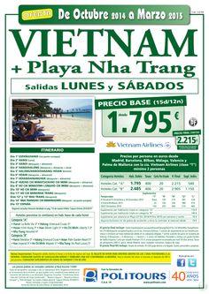 VIETNAM + Playa Nha Trang, sal. del 9/11 al 30/03 dsd mad,bcn,agp,vlc y pmi(15d/12n)p.f. dsd 2.215€ ultimo minuto - http://zocotours.com/vietnam-playa-nha-trang-sal-del-911-al-3003-dsd-madbcnagpvlc-y-pmi15d12np-f-dsd-2-215e-ultimo-minuto/