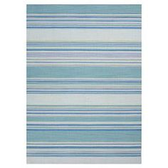 """blue striped rug     Product: RugConstruction Material: 100% WoolColor: Blue and sea greenFeatures:  ReversibleFlatweaveHandmade in India    Pile Height: 0.63""""  Note: Please be aware that actual colors may vary from those shown on your screen. Accent rugs may also not show the entire pattern that the corresponding area rugs have.Cleaning and Care: Vacuum regularly. Blot ..."""