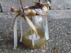 gold mason jar light lanter for flower girl Gold Mason Jars, Mason Jar Lanterns, Mason Jar Lighting, Flower Girl Wand, Lace Flower Girls, Flower Girl Basket, Felt Flowers, Paper Flowers, Star Wand