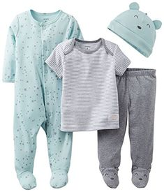 Carter's Baby Boys' 4 Piece Layette S... for only $9.75