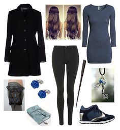 """""""The fight! Lena Black!"""" by selenerose-328 ❤ liked on Polyvore featuring H&M, Harmont & Blaine, Topshop, GUESS and Jan Leslie"""