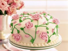 This has to be the sweetest looking cake! Perfect for ladies tea!