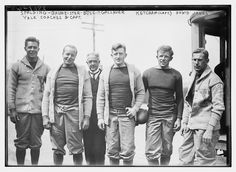 climbing-down-bokor: Yale Football Captain and Coaches, 1913 Ivy Look, Plus Fours, Ivy League Style, College Football, Football Coaches, Football Baby, Football Pictures, Library Of Congress, Big Men