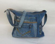 Geräumige Jeanstasche   Upcycling  von Gasani  auf DaWanda.com
