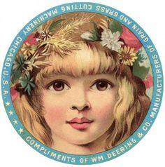 free printable digital image design resource ~ vintage advertising card ~ Wm. Deering & Co.