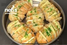 Sarımsaklı Ekmek - Nefis Yemek Tarifleri - #7166275 Baked Potato, Sushi, Ethnic Recipes, Vegans, Food, Crafts, Bakken, Manualidades, Essen