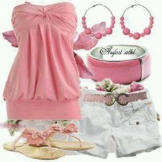 Pink outfit ♥ cute!!