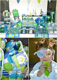 Mad Scientist Birthday Party via Kara's Party Ideas KarasPartyIdeas.com
