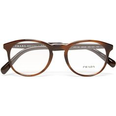 Prada Round-Frame Acetate Optical Glasses ($210) ❤ liked on Polyvore featuring men's fashion, men's accessories, men's eyewear, men's eyeglasses, prada mens eyeglasses, prada mens eyewear and mens round eyeglasses