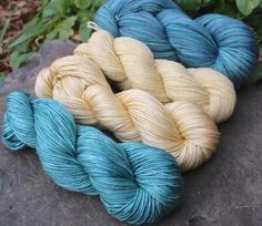 Leamhachán semisolids--blue-green and cream. January 2015 coop