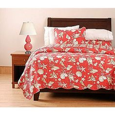 King Quilt, Ocean Coral