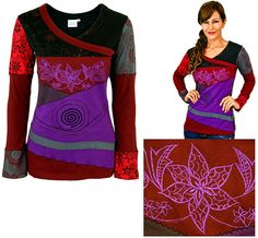 Garden at Dusk Patchwork Tunic -  Every Purchase Fights Famine in the Horn of Africa & Combats Hunger in the U.S.