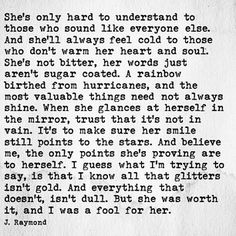 "J Raymond One of my fav sayings ""all the glitters isn't gold"" 🖤 Great Quotes, Quotes To Live By, Me Quotes, Inspirational Quotes, Girly Quotes, Motivational, Pretty Words, Beautiful Words, J Raymond Quotes"
