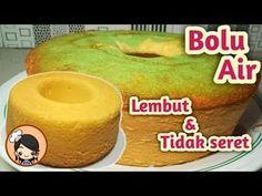 Resep BOLU AIR SATU TELUR LEMBUT & TIDAK SERET - YouTube Asian Desserts, Sweet Desserts, Resep Cake, Heritage Recipe, Chiffon Cake, Pastry Cake, Sponge Cake, Recipe Cards, Yummy Cakes