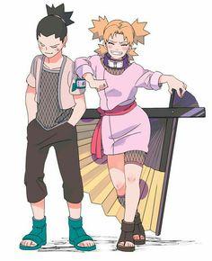 Naruto Shippuden Sasuke, Anime Naruto, Naruto And Shikamaru, Naruto Fan Art, Naruto Comic, Naruto Cute, Gaara, Shikamaru E Temari, Temari Nara