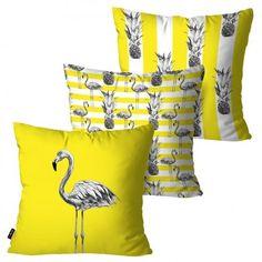 Almofadas quadradas amarelas para decorar seu ambiente com características do elemento/fase Terra do Feng Shui. Sewing School, Feng Shui, Home Accessories, Pillow Covers, Projects To Try, Sweet Home, Throw Pillows, Bed, Home Decor