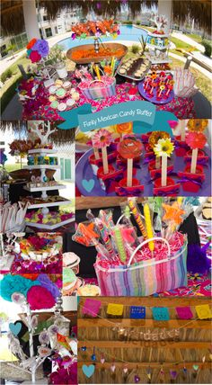 Funky mexican candy buffet