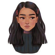 It's different but I kinda like it. Digital Art Girl, Digital Portrait, Portrait Art, Digital Art Anime, Cartoon Art Styles, Cute Art Styles, Anthony Johnson, Cartoon Girl Drawing, Kpop Drawing