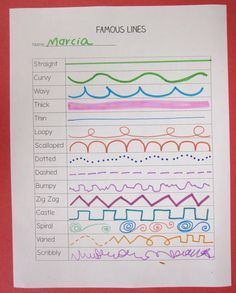 """Vocal exploration of melodic contour.... perhaps use Educreations app as """"template"""" to let the kids record the sounds each line makes."""