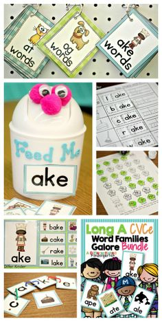 More Differentiated Word Family Word Work With CVCe Words and a Giveaway! - Differentiated Kindergarten More Differentiated Word Family Wo. Differentiated Kindergarten, Kindergarten Reading, Teaching Reading, Teaching Ideas, Guided Reading, Differentiated Instruction, Reading Groups, Kindergarten Activities, Student Reading