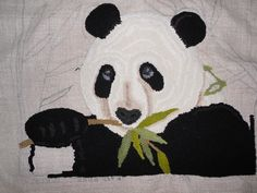 My sweet panda...I am also hoping to be able to finish him soon
