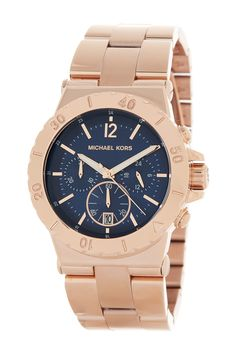 MICHAEL Michael Kors | Women's Navy Chronograph Dial Watch | Nordstrom Rack