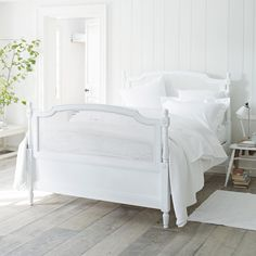 Florence Cane Bed - Beds | The White Company. GBP 950-1350. White or pale grey.