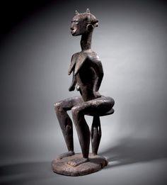 Statue Afo, Nigeria H. 74 cm - L. 23 cm - P. African Sculptures, Art Africain, African Masks, Art Graphique, Les Oeuvres, Statues, Collection, River, Design