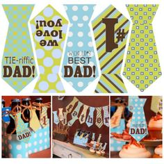 FREE Tie-riffic Tie Banner for Dad on Father's Day #free #fathersday #tie