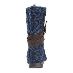 Muk Luks Women's Nikki Dark , Faux Suede, and Wool Mid-calf Boots