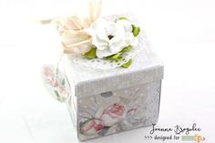 Joanna: Wedding Exploding Box Exploding Boxes, Decorative Boxes, Card Making, Cards, How To Make, Wedding, Ink, Ideas, Valentines Day Weddings