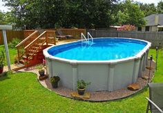 34 Gorgeous Ground Pool Ideas - Would you be able to imagine anything superior to having a pool in your own backyard when the climate gets more sweltering? Owning your very own swimm. Above Ground Pool Landscaping, Backyard Pool Landscaping, Backyard Pergola, Landscaping Ideas, Pergola Kits, Best Above Ground Pool, In Ground Pools, Above Ground Swimming Pools, Ideas De Piscina