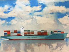 Maersk Line Acrylic on canvas R.E.Galbraith
