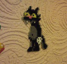Scratchy the cat perler bead sprite von Körvel