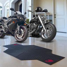 Washington State University Motorcycle Mat Rubber Garage Rug