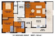 Villa Plan, Prefabricated Houses, House Plans, Floor Plans, How To Plan, Room, Home Decor, Google, Images