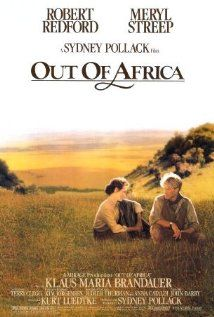 """BEST PICTURE:   (1985)  """"OUT OF AFRICA) In 20th-century colonial Kenya, a Danish baroness/plantation owner has a passionate love affair with a free-spirited big-game hunter. Stars: Meryl Streep, Robert Redford, Klaus Maria Brandauer  """