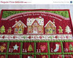 Advent Calendar Christmas Gingerbread Shop by PatsPassionQuilteds